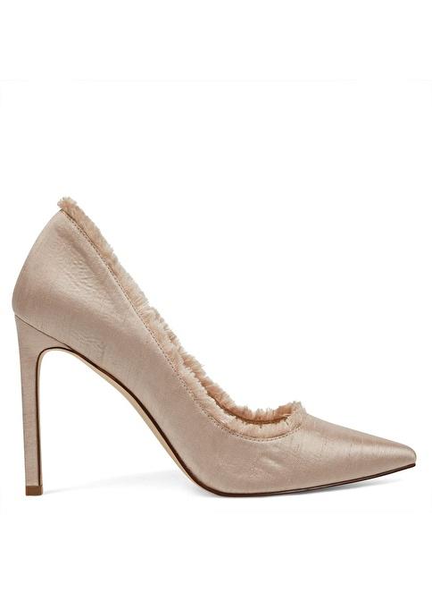 Nine West İnce Topuklu Kumaş Ayakkabı Pembe